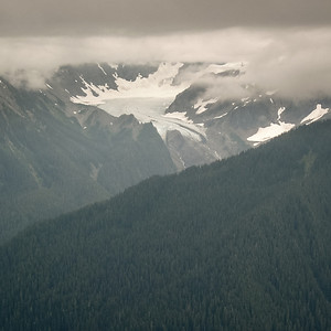 Glacier coming off Mount Olympus in Olympic National Park.