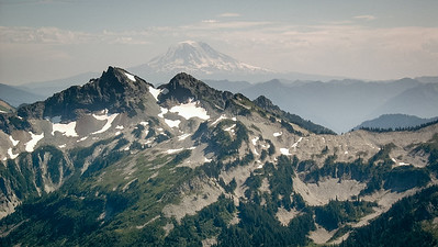Mount Adams in the distance from Panorama Point on Mount Rainier, 2003