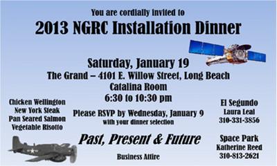 2013 NGRC Installation Dinner
