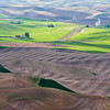 Another view of the Palouse region from the Steptoe Butte, near Colfax, Washington.
