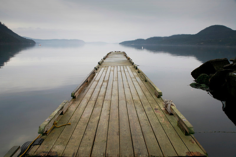 Dock at Dawn - Orcas Island, Washington