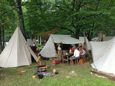 A Viking encampment. As original as it gets.