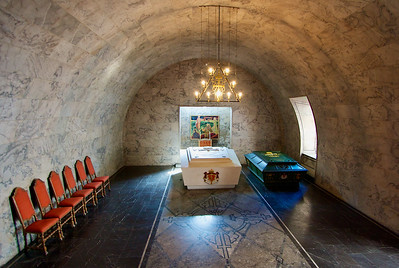 King and Queen burial crypt, deep within Akershus Fortress.