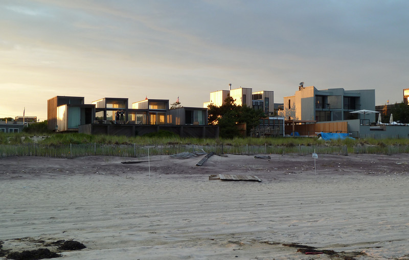 July 9, 2010.<br /> <br /> House on the beach on Fire Island at sunset.