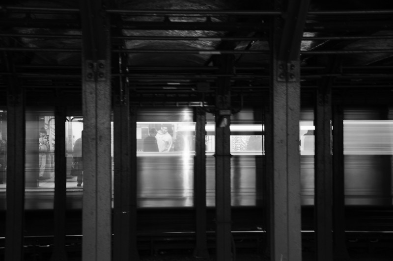 1/4/11 Daily Photo.<br /> <br /> Passing subway train.