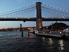 July 30, 2010.<br /> <br /> The Brooklyn and Manhattan Bridges. Taken at dusk on my very first bike ride in Brooklyn. I actually wore my helmet ! <br /> <br /> I mentioned to the doorman on my way out ( who even opened the door for me...lol) that it was my first time riding in Brooklyn and hopefully I wouldn't get killed. After paying 75 cents! to fill my tires I took a neat 5 mile spin around the Heights and the new Brooklyn Bridge Park and Dumbo. This is just a quick snap from the park.