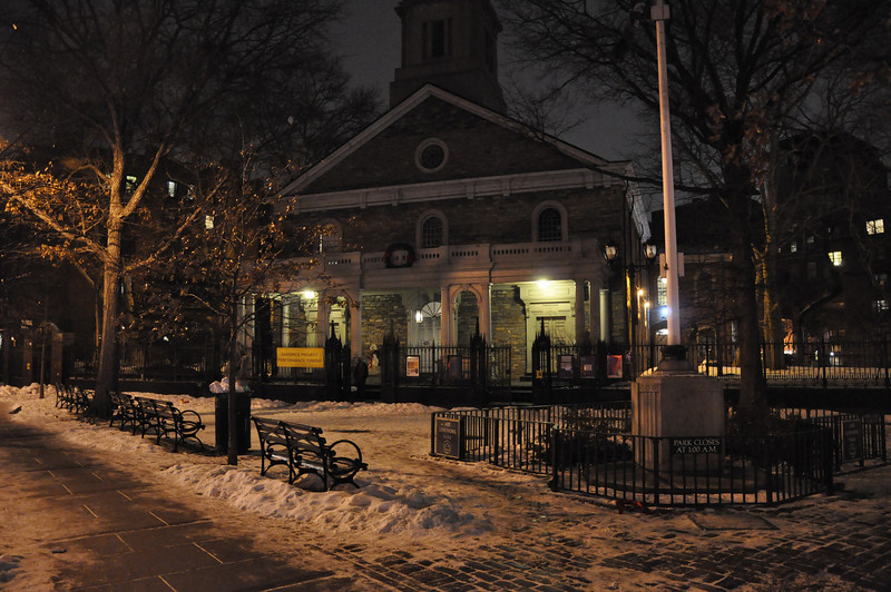 1/8/11 Daily Photo.<br /> <br /> St. Mark's in the Bowery church in the East Village on a cold January evening.