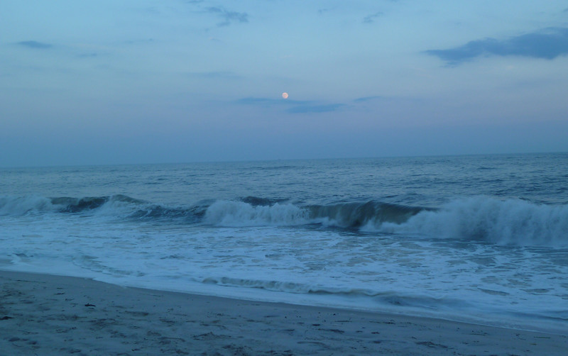 July 24, 2010.<br /> <br /> Rising moon at Fire Island Pines.<br /> <br /> This is the first of two photos I am posting to the gallery today.