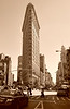 Sept. 6, 2010, taken yesterday.<br /> <br /> Flatiron Building, NYC's first skyscraper, in Sepia.