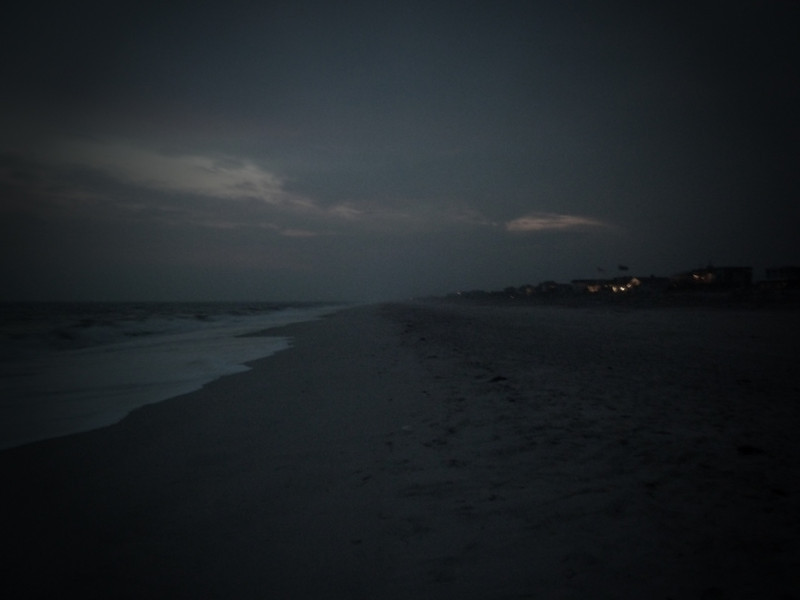 July 23, 2010.<br /> <br /> Fire Island Pines beach at dusk.