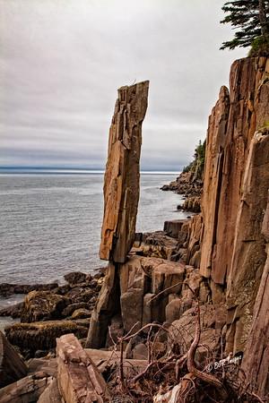 Balancing Rock on Long Island in Nova Scotia, Canada