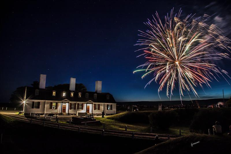 Fireworks at Fort Anne celebrating Annopolis Royals Natal Days
