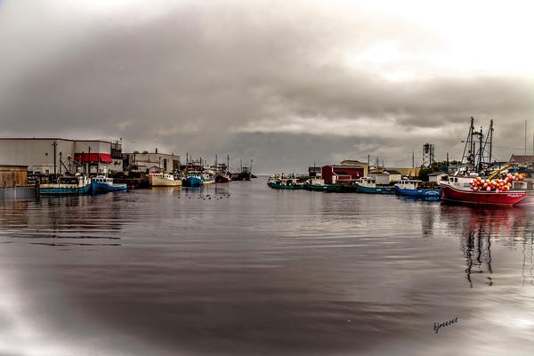 Working Boats in Glace Bay, Nova Scotia, Canada