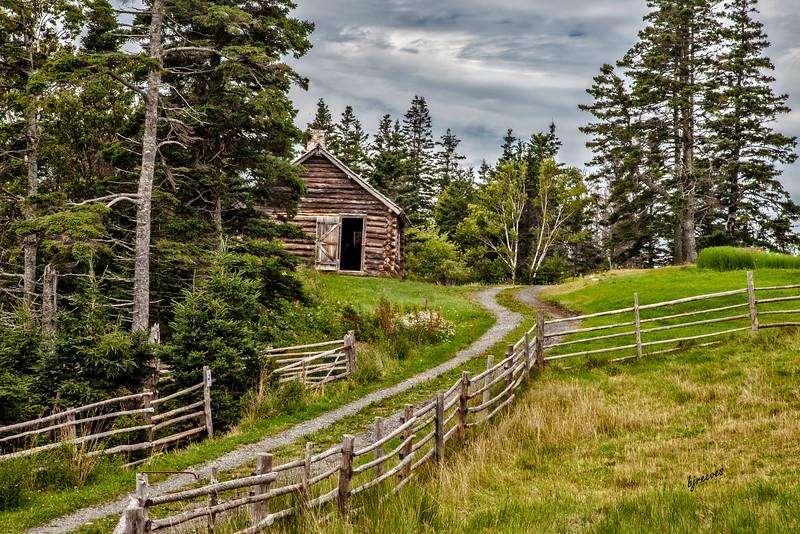 Path in Highland Village in Iona, Nova Scotia, Canada