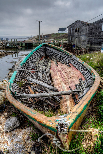 Boat Ruins in Peggy's Cove - Nova Scotia, Canada