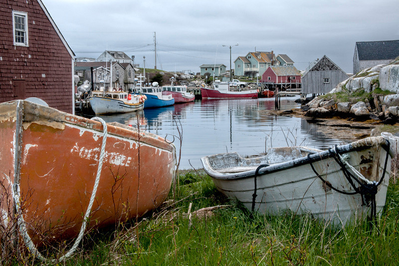 Boats in Peggy's Cove - Nova Scotia, Canada