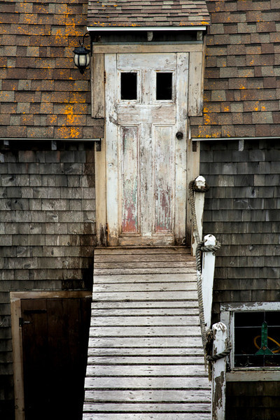 White Door & Walkway to Fisherman's Shack - Nova Scotia