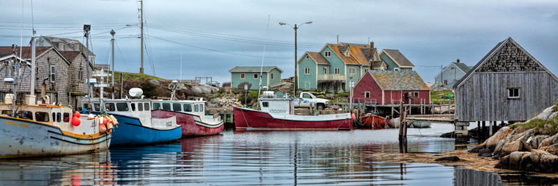 Peggy's Cove Boats Panoramic - Nova Scotia, Canada