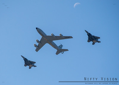 F-15s and a KC-135