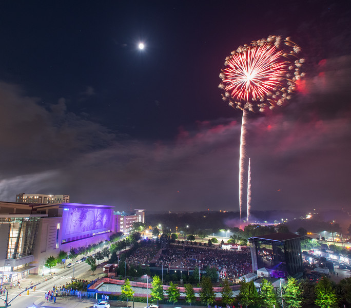 Raleigh Indepence Day Fireworks 2017