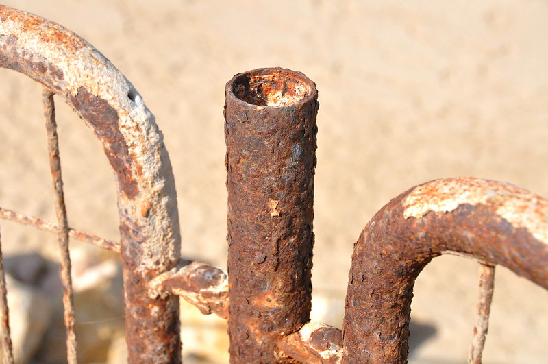 Rusted gate. Image taken in October 2010 on the beach in Israel.