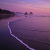 Tide Going Out; Night Coming In<br /> Cannon Beach, Oregon