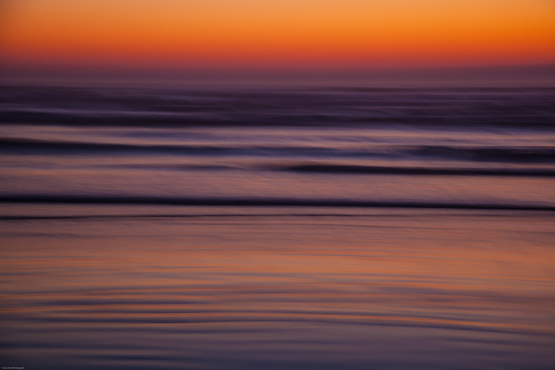 Painterly Ocean Sunset En Camera<br /> Cannon Beach, Oregon
