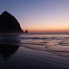 Haystack Rock at Twilight<br /> Cannon Beach, Oregon