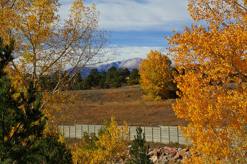 10-24-10: Pikes Peak framed by some local color.