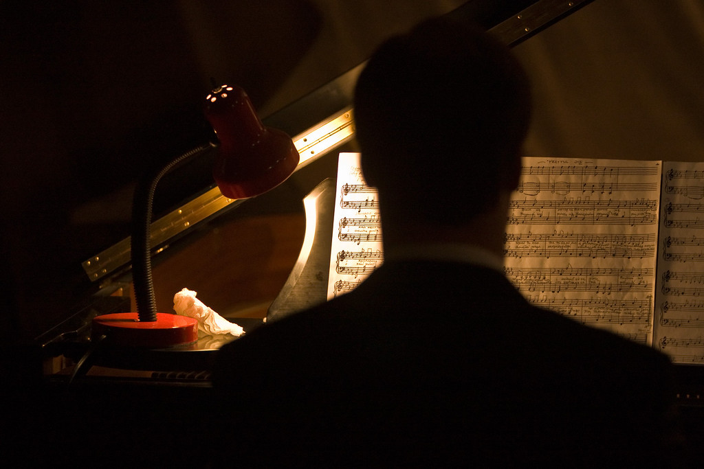 The Pianist, off stage & in the dark...