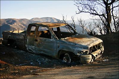 Truck Burnout SoCal Fires