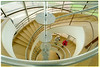 The famous staircase at the De la Warr Pavilion, Bexhill.