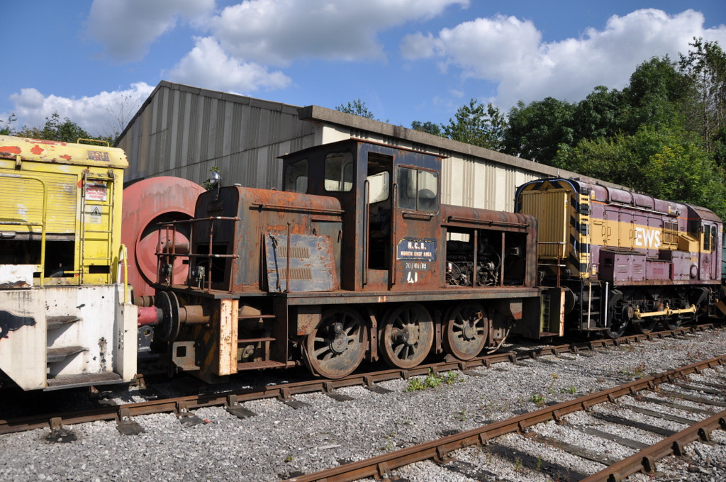NCB Industrial loco, Lafarge Cement Works, Hope. August 2012.