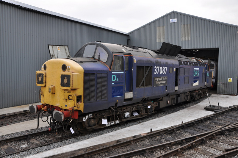 37087 being stripped for parts at Barrow Hill. July 2012.