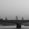 Early one morning in London, I was trying to make it look like all the landmarks were 'sitting' on the bridge and that includes the 2 buses.