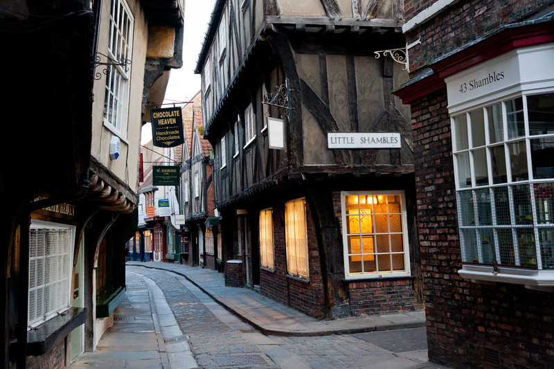 A very rare moment when 'The Shambles' in York was devoid of people. It didn't last long though.