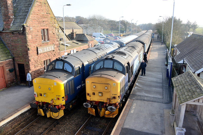 37425 and 37409, St Bees. 18/03/16.