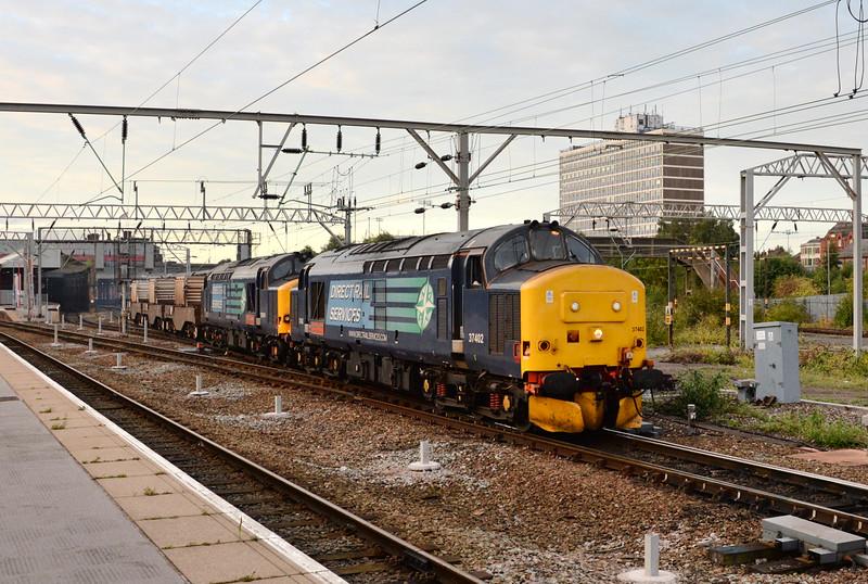 37402 and 37610, Crewe. 29/08/14.