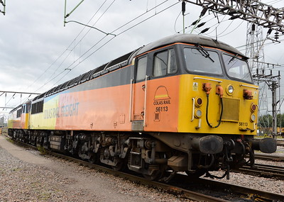 56113 and 56302, Crewe Basford Hall. 27/07/16.