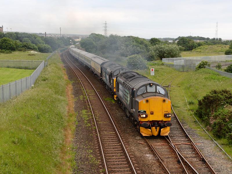 37605 and 37609, Workington. 16/06/17.