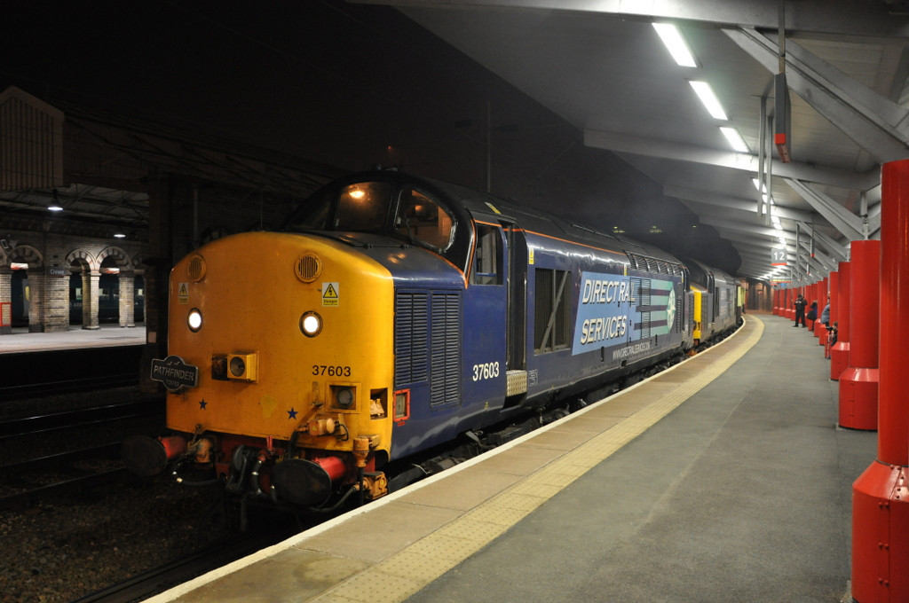 37603 and 37606. Crewe. 24/03/12