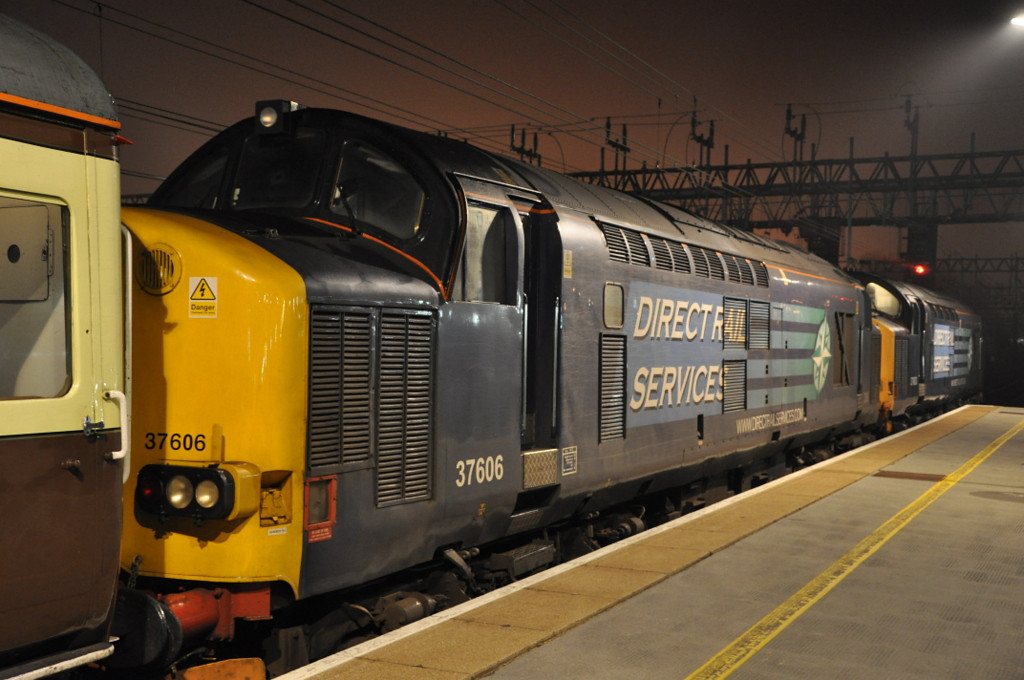 37606 and 37603, Crewe. 24/03/12.