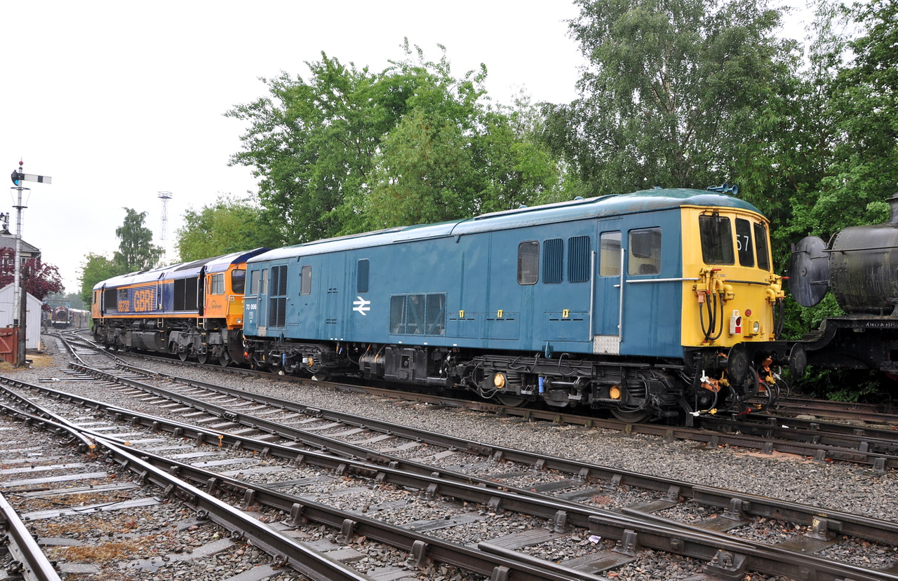 73006 and 66732, Crewe Heritage Centre. 22/05/14.