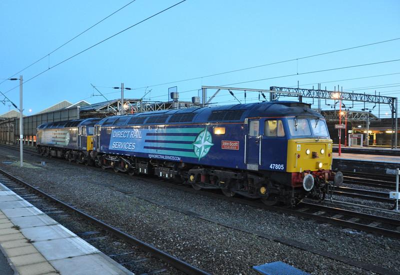 47805 and 47501, Crewe. 17/12/13.