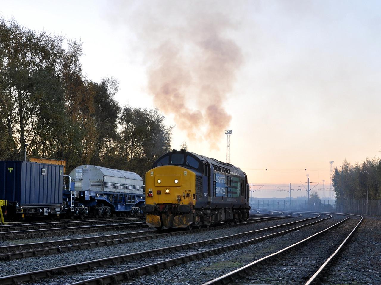 37419, Crewe Coal Yard. 22/11/13.