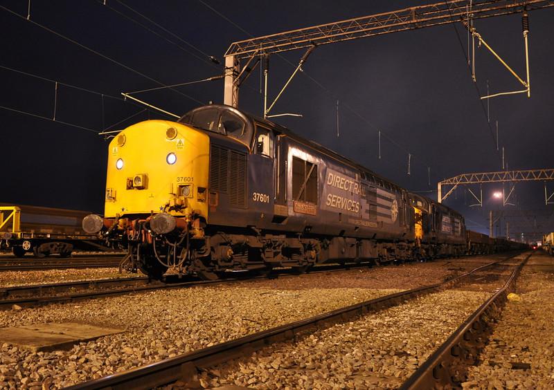 37601 and 37604, Crewe Basford Hall. 27/11/13.