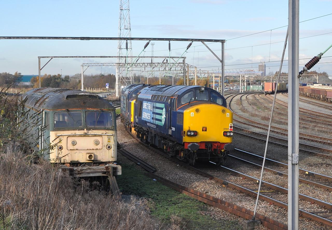 37059 and 37419, Crewe Basford Hall. 22/11/13.