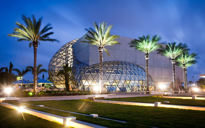 Salvador Dali Museum in St. Petersburg Florida at night.