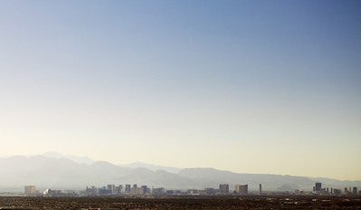 The Las Vegas Strip from a few miles away.