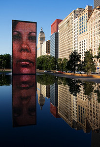 """Crown Fountain"" - Chicago"